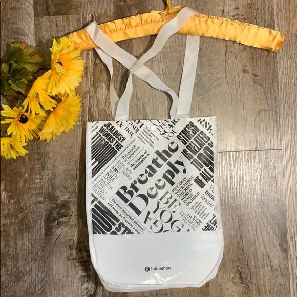 Lululemon Handbags - Lululemon  | Breathe Deeply Reusable Earthwise Bag